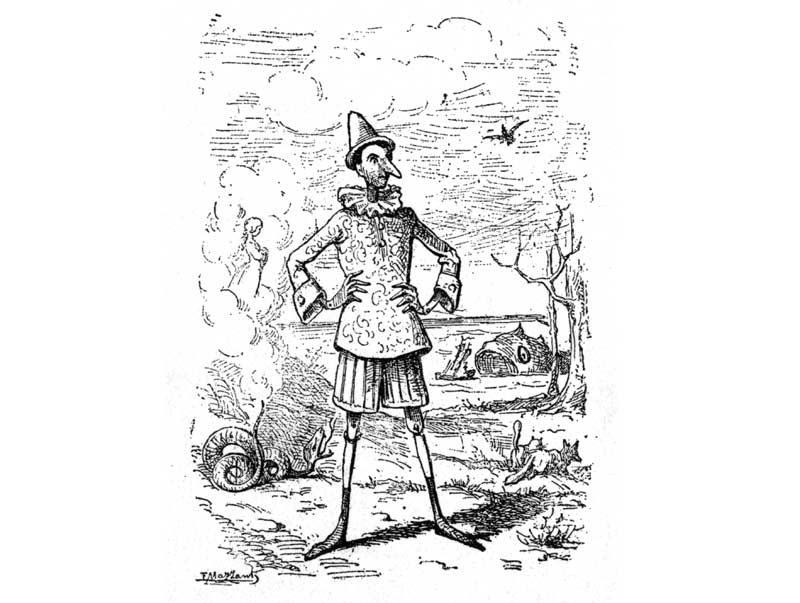 Pinocchio (illustrazione di Carlo Mazzanti)