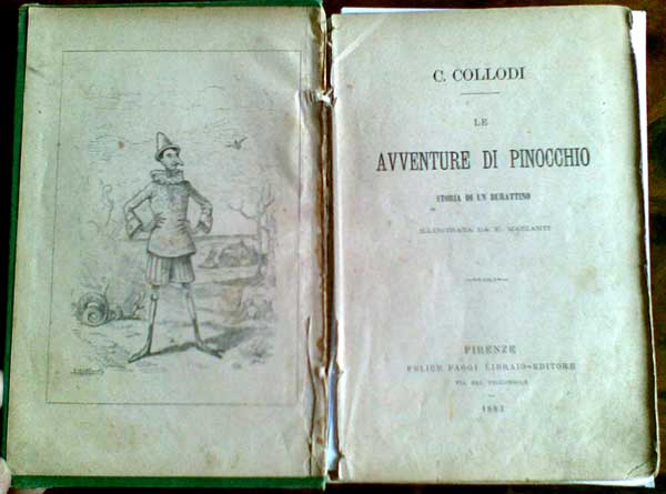 Prima edizione Pinocchio (1881)