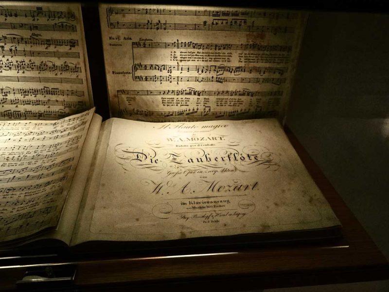 Mozart, spartito del Flauto Magico
