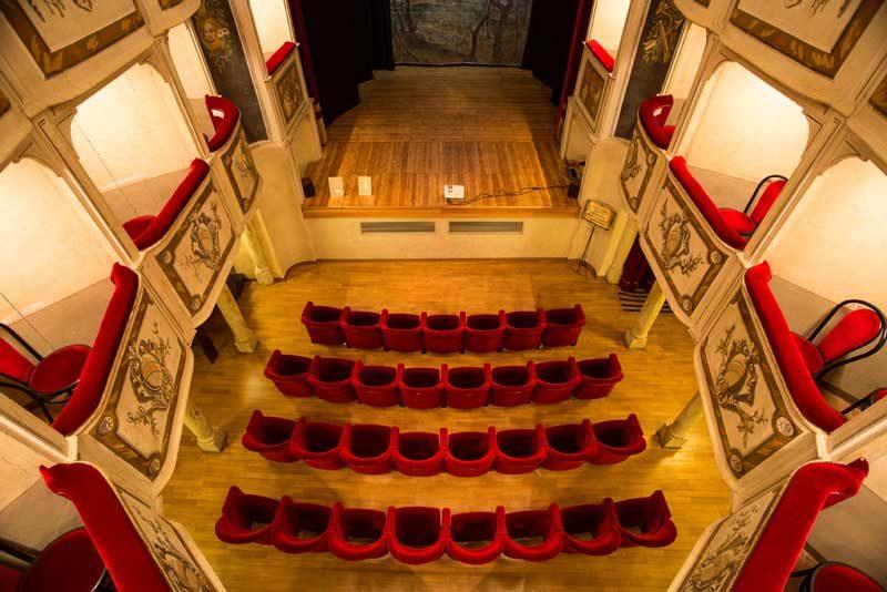 La platea del Teatro della Concordia